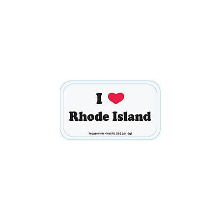 AmuseMints® Destination Mint Candy, I Heart Rhode Island, 0.56 Oz, Pack Of 24
