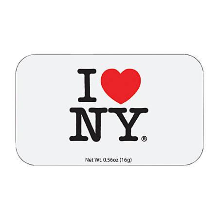AmuseMints® Destination Mint Candy, I Heart NY, 0.56 Oz, Pack Of 24
