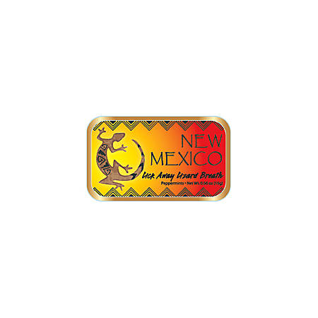 AmuseMints® Destination Mint Candy, New Mexico Lizard, 0.56 Oz , Pack Of 24