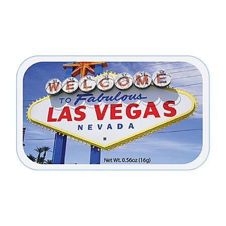 AmuseMints® Destination Mint Candy, Las Vegas Welcome Sign Photo, 0.56 Oz, Pack Of 24