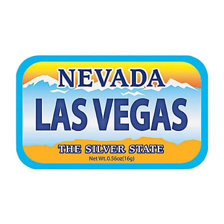 AmuseMints® Destination Mint Candy, Nevada License Plate Las Vegas, 0.56 Oz, Pack Of 24