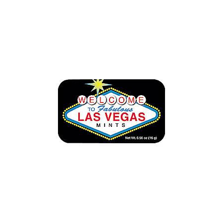 AmuseMints® Destination Mint Candy, Las Vegas Welcome Cinnamon, 0.56 Oz, Pack Of 24