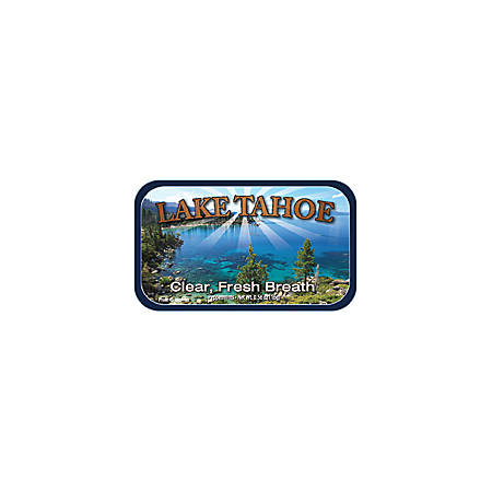 AmuseMints® Destination Mint Candy, Lake Tahoe Clear, 0.56 Oz, Pack Of 24