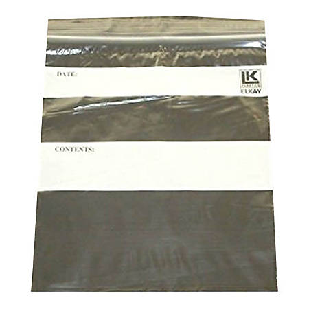 "Elkay Plastics Seal Top Reclosable Storage Bags, 1 Gallon, 10"" x 12"", Clear, Pack Of 250 Bags"