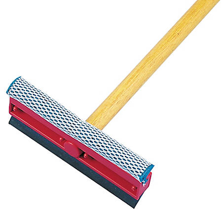 "Boardwalk® Rubber General-Duty Squeegee, 8""W, Black/Red"