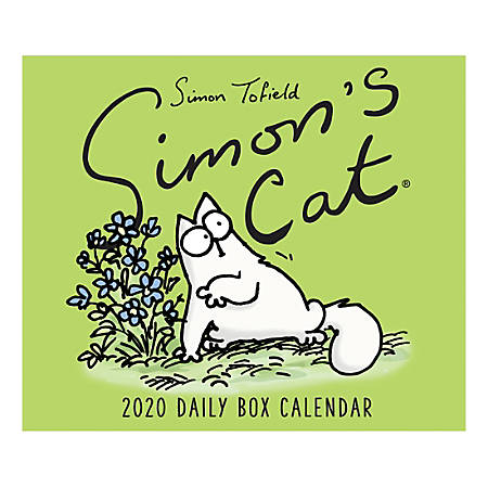 """Willow Creek Press Page-A-Day Daily Desk Calendar, Simon's Cat, 5-1/2"""" x 6-1/4"""", January to December 2020, 53902"""