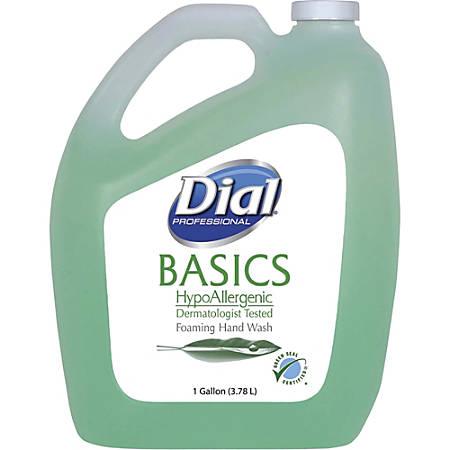 Dial Basics HypoAllergenic Foam Hand Soap - Fresh Scent - 1 gal (3.8 L) - Hand - Light Green - Hypoallergenic - 4 / Carton