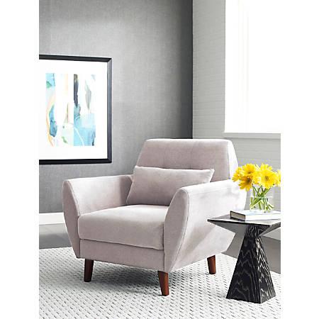 Serta Artesia Collection Arm Chair, Ivory/Chestnut