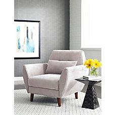 Serta Artesia Collection Arm Chair IvoryChestnut