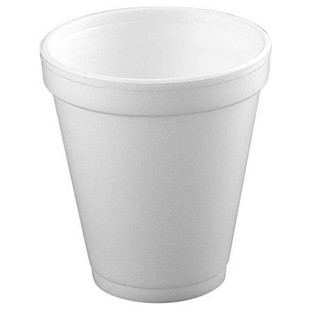 Dart® Insulated Foam Drinking Cups, White, 8.5 Oz, Box Of 51