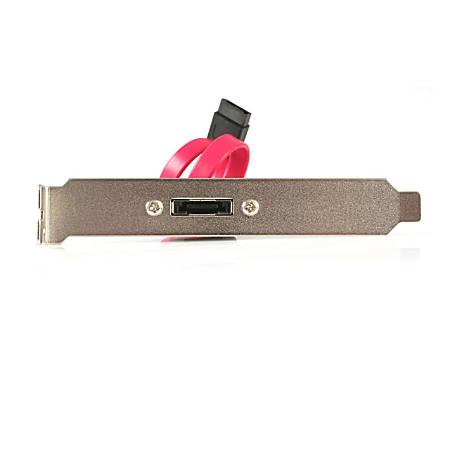 StarTech.com 1 Port SATA to eSATA Slot Plate Bracket - Serial ATA internal to external panel - 7 pin Serial ATA - 7 pin external Serial ATA - 30 cm - eSATA - Male SATA - 1ft
