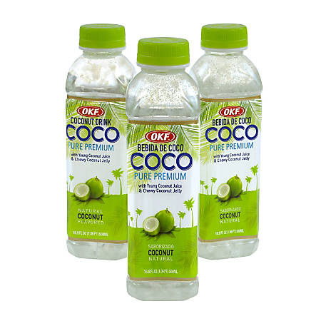 Coco Coconut Drink, 16.9 Fl Oz Bottles, Pack Of 20