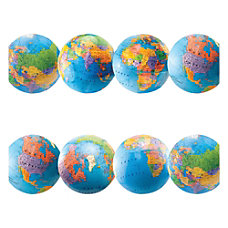 Hygloss Globe Design Border Strips 12