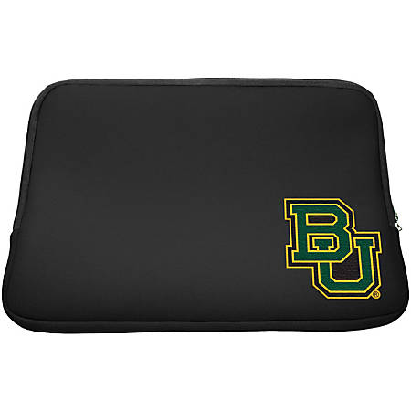 "Centon LTSC13-BAY Carrying Case (Sleeve) for 13.3"" Notebook - Black - Neoprene, Faux Fur Interior - Baylor University Logo"