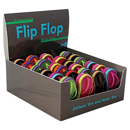 5709635f1bdd8 AmuseMints Mint Candy Flip Flop Tins Assorted Colors Pack Of 24 ...