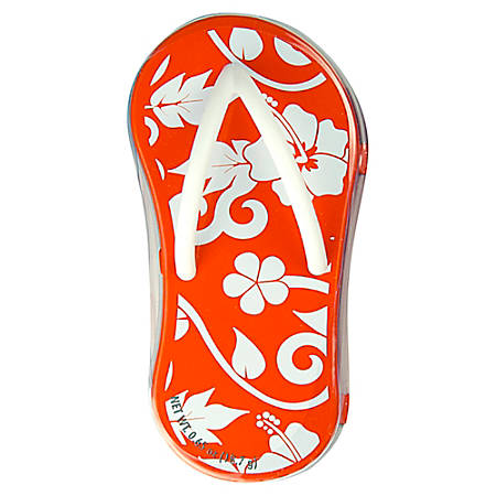 AmuseMints® Mint Candy Flip Flop Tins, Hibiscus Orange, Pack Of 24