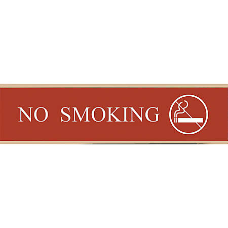 """Acrylic Engraved Sign With Metal Wraparound Holder, 2"""" x 10"""""""
