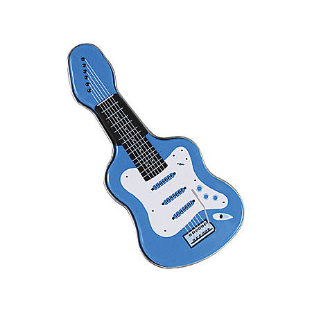 AmuseMints® Sugar-Free Mints, Electric Guitar Tin, Blue, Pack Of 24