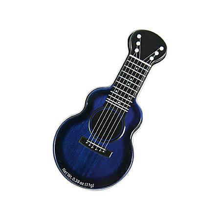 AmuseMints® Sugar-Free Mints, Acoustic Guitar Tin, Blue, Pack Of 24