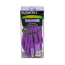 Duracell Fabric Lightning Cable 10 Purple