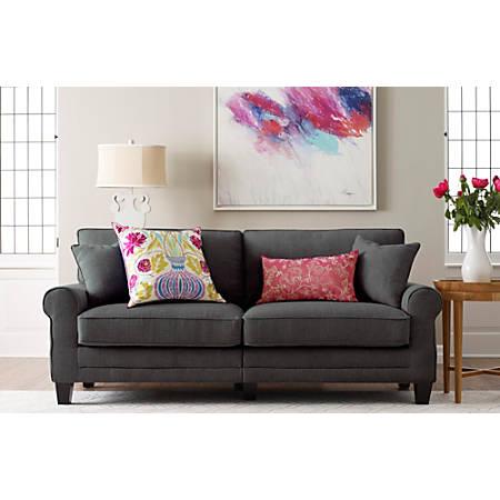 "Serta Copenhagen Deep-Seating Sofa, 78"", Gray/Espresso"