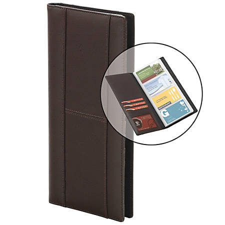 FORAY™ Bonded Leather Business Cardfolio, Brown