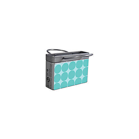 AmuseMints® Mint Candy Shopping Bag Tins, Turquoise Dots, 0.68 Oz, Pack Of 24