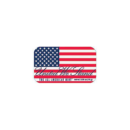 AmuseMints® Sugar-Free Mints, USA Flag, 0.56 Oz, Pack Of 24
