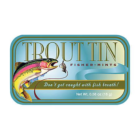 AmuseMints® Sugar-Free Mints, Trout, 0.56 Oz, Pack Of 24