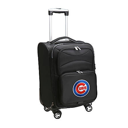 "Denco ABS Upright Rolling Carry-On Luggage, 21""H x 13""W x 9""D, Chicago Cubs, Black"