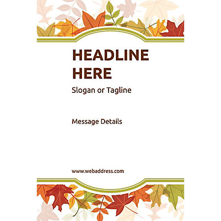 Adhesive Sign, Autumn Frame, Vertical