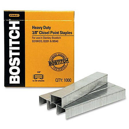 "Stanley Bostitch® B310HDS-03201 Staples, 3/8"", Box Of 1000"