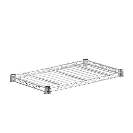 "Honey-Can-Do Plated Steel Shelf, Supports 350 Lb, 1""H x 14""W x 24""D, Chrome"