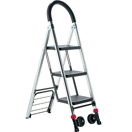 Conair Travel Smart LadderKart Professional Grade Stepladder/Hand Cart - 175 lb Capacity - Aluminum