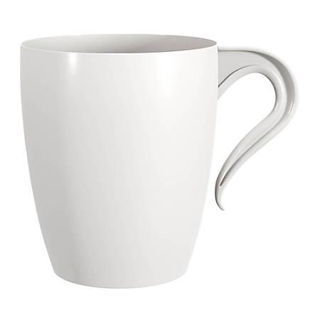 Amscan Premium Plastic Coffee Mugs, 10 Oz, White, 16 Mugs Per Pack, Case Of 2 Packs