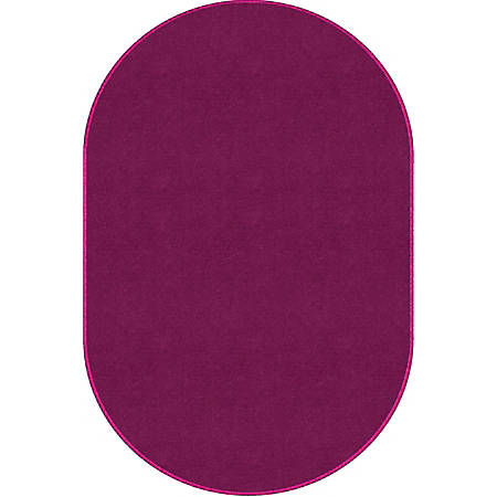 """Flagship Carpets Americolors Rug, Oval, 7' 6"""" x 12', Cranberry"""
