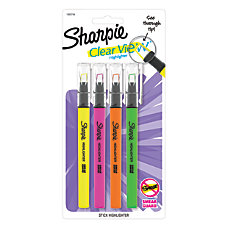 Sharpie Clear View Stick Highlighters Chisel