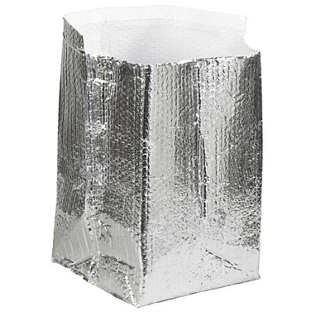 """Office Depot® Brand Insulated Box Liners, 12""""H x 12""""W x 12""""D, Silver, Case Of 25"""