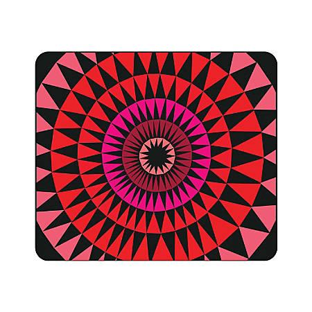 "OTM Essentials Mouse Pad, Sun Print, 10"" x 9.13"", Black, 1BM-ART01-30"