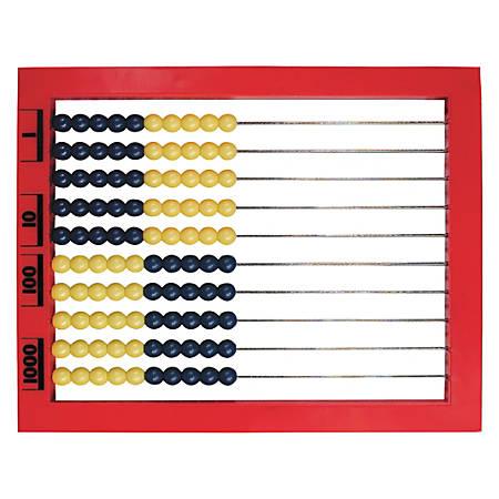 """Learning Resources® 2-Color Desktop Abacus, 1/2""""H x 9 1/2""""W x 8 1/2""""D, Multicolor, Grades Pre-K - 8"""