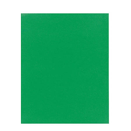 Office Depot® Brand School-Grade 2-Pocket Paper Folder, Letter Size, Green