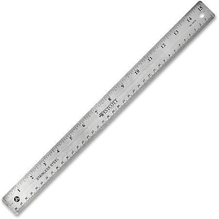 """Westcott® Stainless Steel Ruler, 15""""/38cm"""