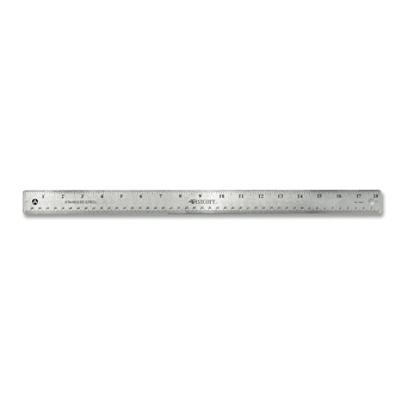 """New 30cm 12"""" Metal Stainless Steel Non Slip Cork Backed Ruler"""