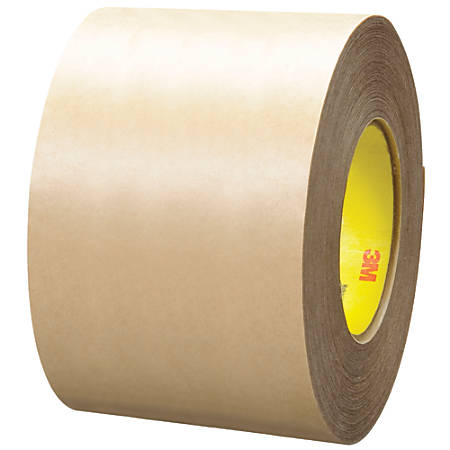 "3M™ 9485PC Adhesive Transfer Tape Hand Rolls, 3"" Core, 4"" x 60 Yd., Clear, Case Of 8"