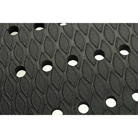 """The Andersen Company Cushion Max Floor Mat With Holes, 24"""" x 36"""", Black"""