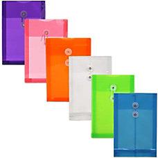 JAM Paper Plastic Open End Envelopes