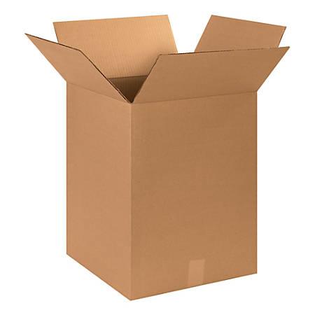 "Office Depot® Brand Corrugated Cartons, 15"" x 15"" x 20"", Kraft, Pack Of 25"