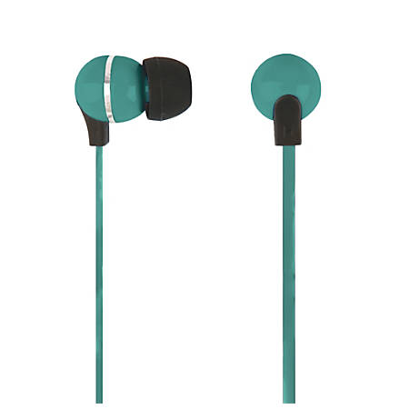 Ativa™ Plastic Earbud Headphones with Flat Cable, Green