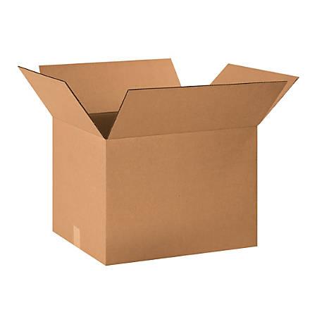 "Office Depot® Brand Heavy-Duty Corrugated Cartons, 20"" x 16"" x 14"", Kraft, Pack Of 15"