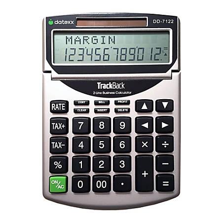 Datexx DD-7122 2-Line TrackBack Business Desktop Calculator